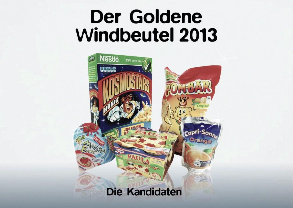 Wer solls werden? Fünf Produkte stehen für den goldenen Windbeutel 2013 zur Auswahl.